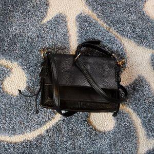Stuart Weitzman Black Leather Satchel